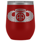 82ND AIRBORNE DIVISION WINGED WINE TUMBLER Wine Tumbler Red Upper Tier Development