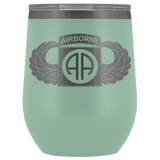 82ND AIRBORNE DIVISION WINGED WINE TUMBLER Wine Tumbler Teal Upper Tier Development