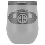 82ND AIRBORNE DIVISION WINGED WINE TUMBLER Wine Tumbler White Upper Tier Development
