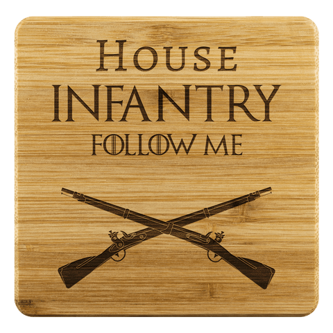 HOUSE INFANTRY BAMBOO COASTERS Coasters Bamboo Coaster - 4pc Upper Tier Development
