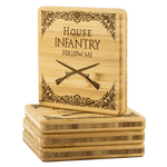 HOUSE INFANTRY BAMBOO COASTERS V2 Coasters Bamboo Coaster - 4pc Upper Tier Development