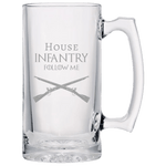 HOUSE INFANTRY BEER MUG Beer Mugs Laser Etched No Colored Art Upper Tier Development
