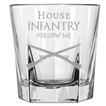 HOUSE INFANTRY ROCK GLASS Rock Glass Laser Etched No Colored Art Upper Tier Development