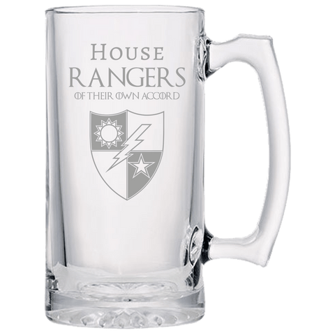 HOUSE RANGERS BEER MUG Beer Mugs Laser Etched No Colored Art Upper Tier Development
