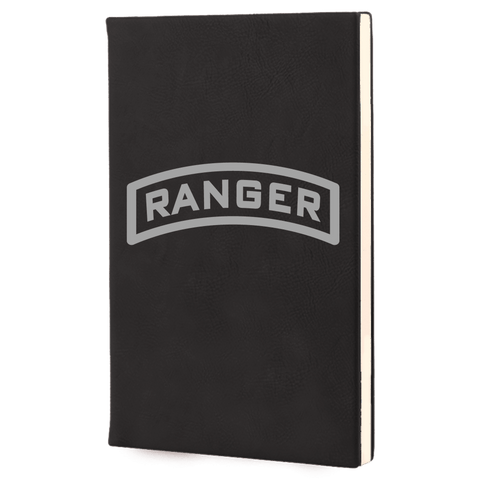 LASER ENGRAVED TAB LEADERS BOOK Journal Laser Engraved No Colored Art OS / Black Upper Tier Development