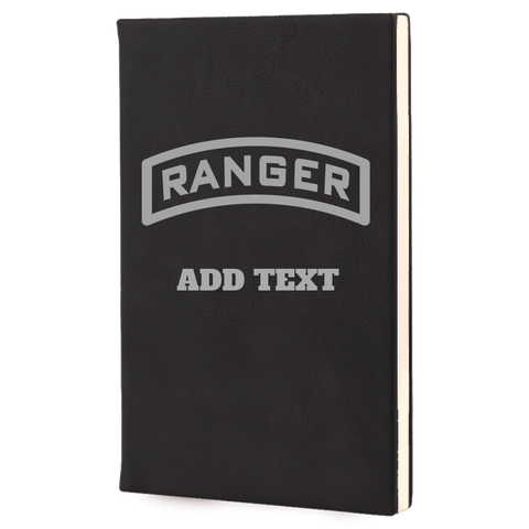 PERSONALIZED LASER ENGRAVED RANGER TAB LEADERS BOOK Journal Laser Engraved No Colored Art OS / Black Upper Tier Development