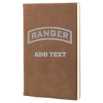 PERSONALIZED LASER ENGRAVED RANGER TAB LEADERS BOOK Journal Laser Engraved No Colored Art OS / Dark Brown Upper Tier Development
