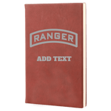 PERSONALIZED LASER ENGRAVED RANGER TAB LEADERS BOOK Journal Laser Engraved No Colored Art OS / Rose Upper Tier Development