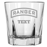 PERSONALIZED RANGER TAB ROCK GLASS Rock Glass Laser Etched No Colored Art Upper Tier Development