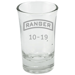 PERSONALIZED RANGER TAB SHOT GLASS Dessert Shot Glass Laser Etched No Colored Art Upper Tier Development