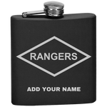 PERSONALIZED RANGERS FLASK Flask Laser Etched No Colored Art OS / Black Upper Tier Development