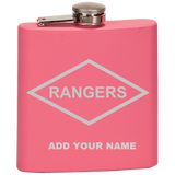 PERSONALIZED RANGERS FLASK Flask Laser Etched No Colored Art OS / Classic Pink Upper Tier Development