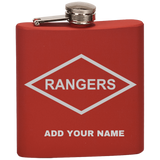 PERSONALIZED RANGERS FLASK Flask Laser Etched No Colored Art OS / True Red Upper Tier Development