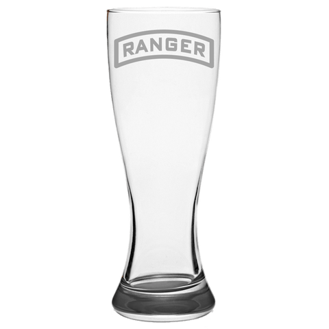 RANGER TAB PILSNER GLASS Pilsner Glass Laser Etched No Colored Art Upper Tier Development