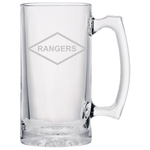 RANGERS BEER MUG Beer Mugs Laser Etched No Colored Art Upper Tier Development