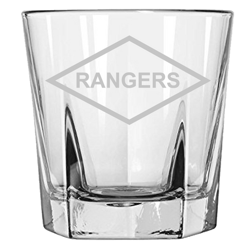 RANGERS ROCK GLASS Rock Glass Laser Etched No Colored Art Upper Tier Development