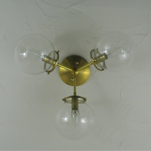Glass Globe Tripod Flush Mount Light - Pepe & Carols