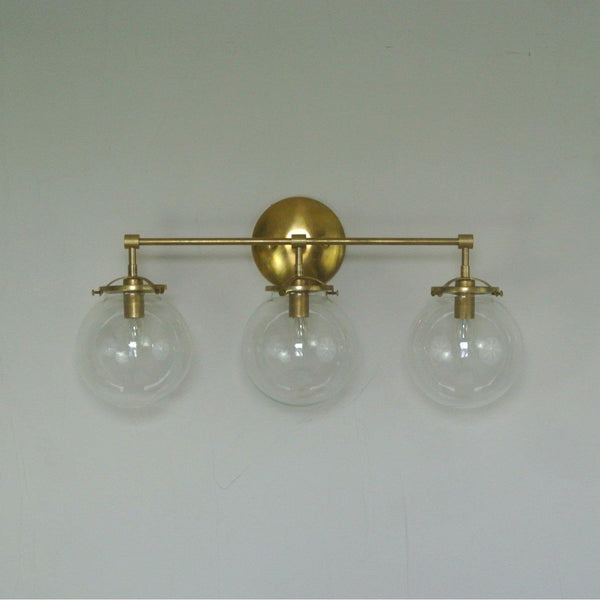 Triple Glass Globe Wall Sconce - Pepe & Carols