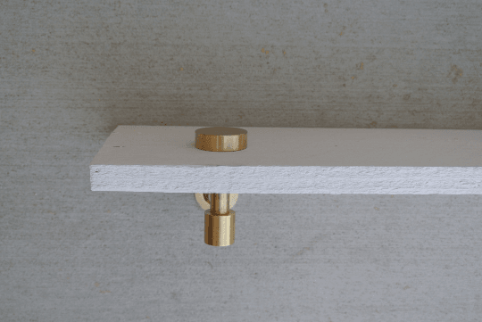 Modern Brass Bathroom Wall Shelf - Pepe & Carols