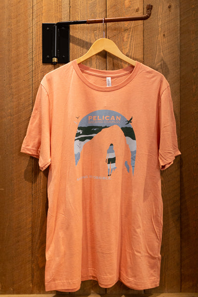 Vintage Peach Sunset Surf Tee - Unisex
