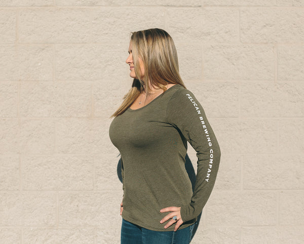 Long Sleeve Scoop Neck Triblend - Women's