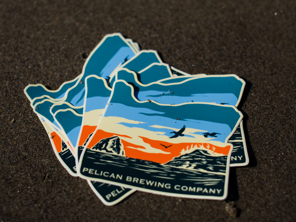 Large Pelican Pacific City, Oregon Sticker