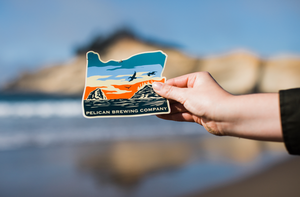 + Pelican Pacific City, Oregon Sticker