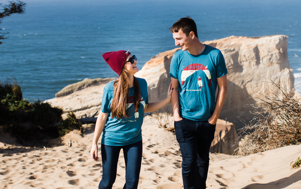 Teal Sunset Surf Tee - Unisex