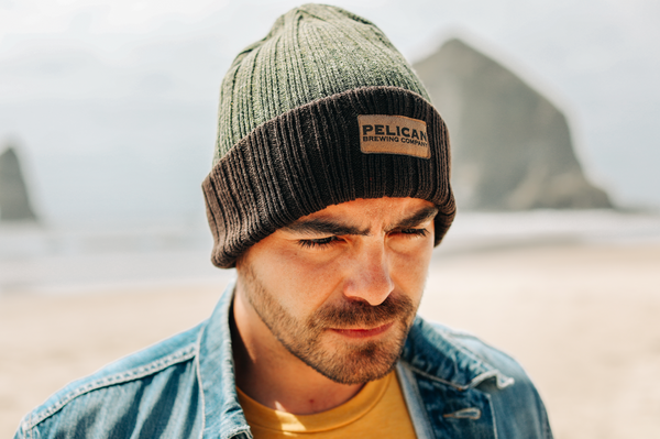 + Green Duo-tone Patch Beanie