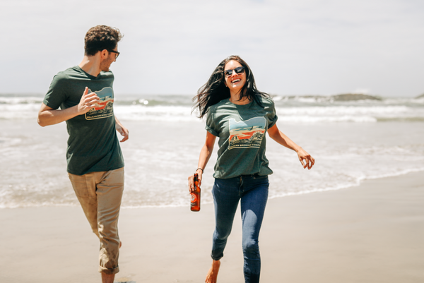 Green Oregon Coast Tee - Unisex
