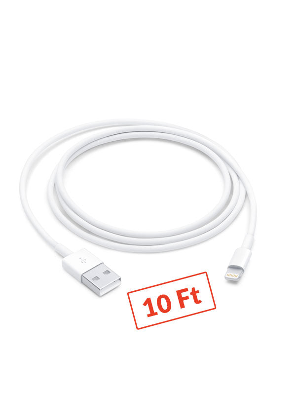 $3 10 Foot Lightning USB Cable