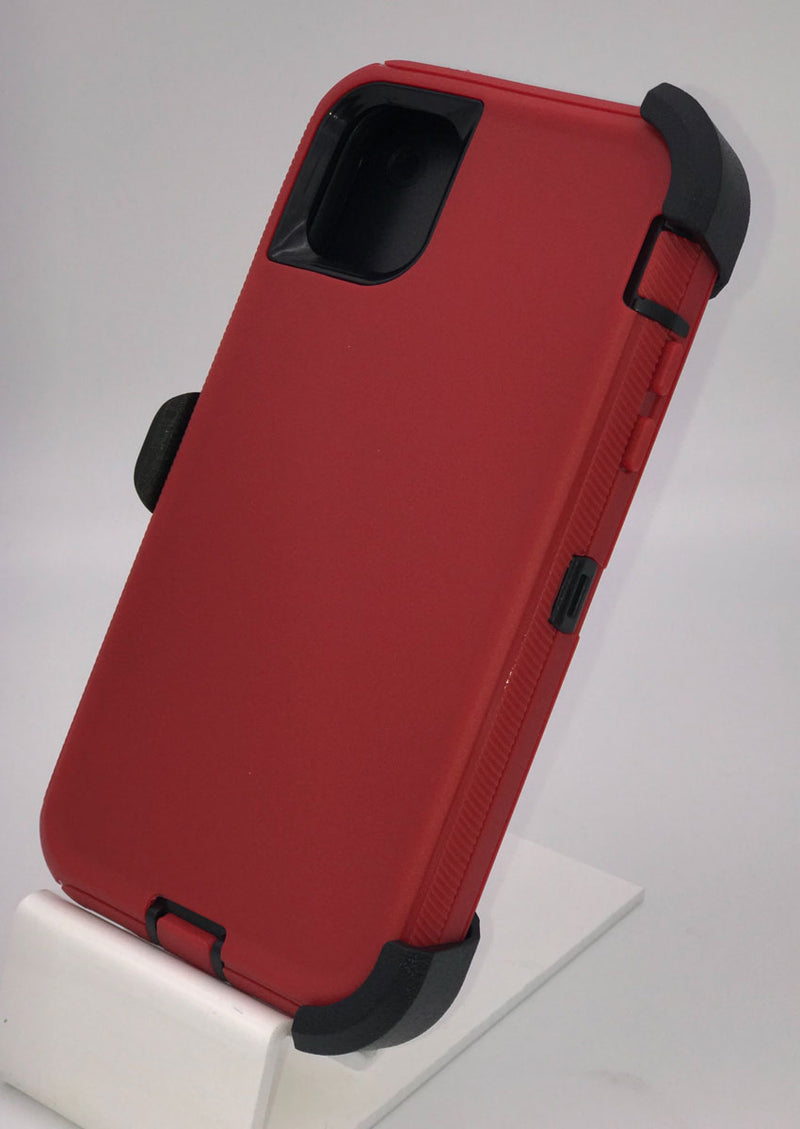 Defender Hard Shell Case w/ Belt Holster Clip for iPhone 11