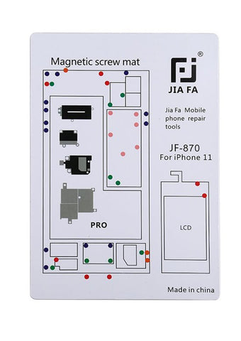 JiaFa JF-870 Magnetic Screw Mat for iPhone 11 Pro