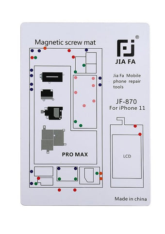 JiaFa JF-870 Magnetic Screw Mat for iPhone 11 Pro Max