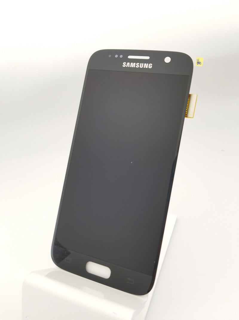 Samsung S7 LCD Replacement NO FRAME - Black (Service Pack)