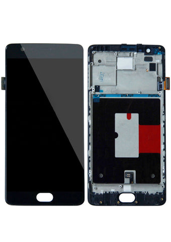 OnePlus 3 / 3T LCD Assembly w/Frame - Black
