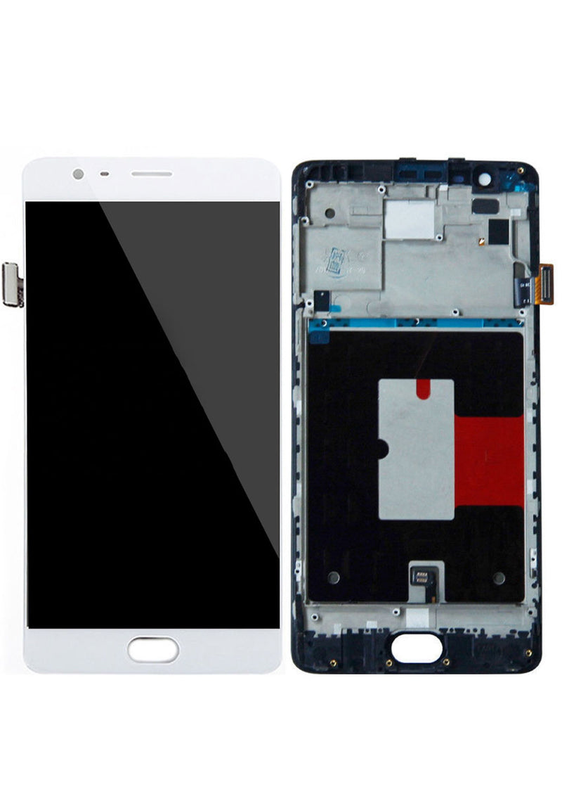 OnePlus 3 / 3T LCD Assembly w/Frame - White
