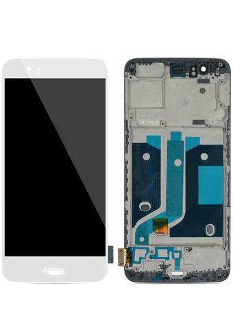 OnePlus 5 (A5000) LCD Assembly w/Frame - White