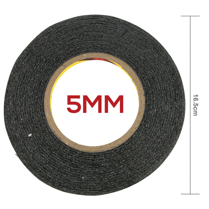 5mm Size 3M Double Sided Adhesive TESA Tape - Black