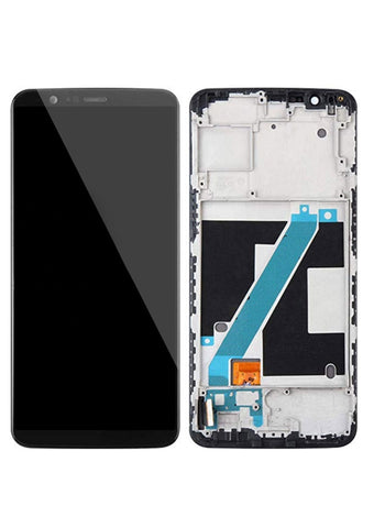 OnePlus 5T (A5010) LCD Assembly w/Frame - Black