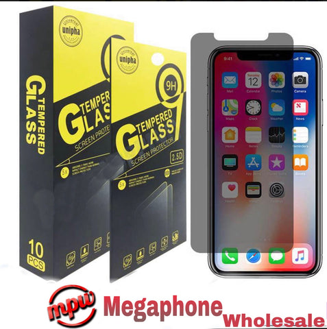 9H Premium Privacy Tempered Glass For iPhone (Pack of 10)