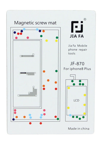 JiaFa JF-870 Magnetic Screw Mat for iPhone 8 Plus