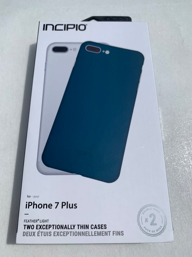 timeless design 3ac38 a1849 Incipio Feather Light Cases for iPhone 7 Plus/iPhone 8 Plus - Blue & Clear  (Two Pack!)