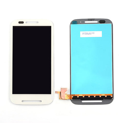 Motorola Moto E LCD Assembly NO FRAME - White