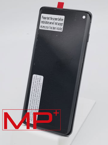 Samsung S10 Replacement LCD with Frame - Black