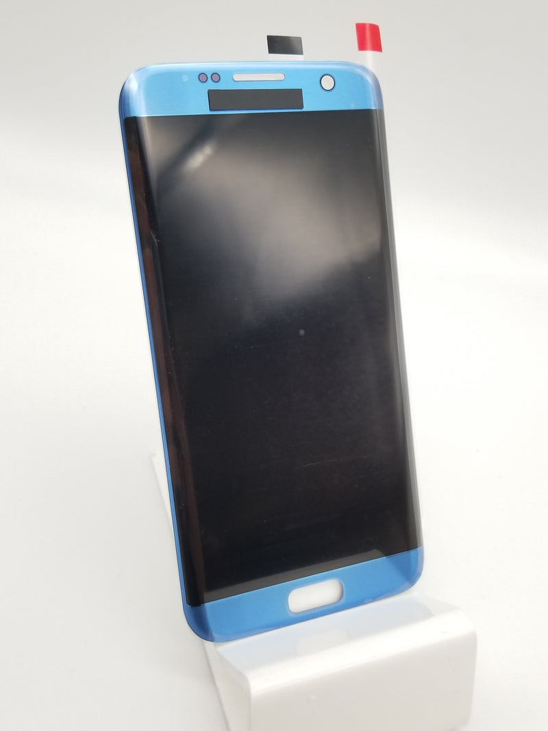 Samsung S7 Edge LCD Assembly NO FRAME - Coral Blue