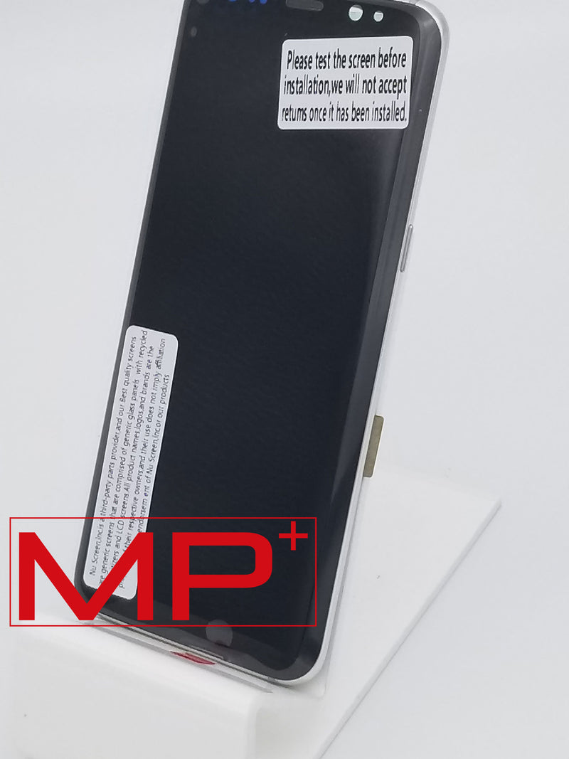 Samsung S8 Replacement LCD with Frame - Silver