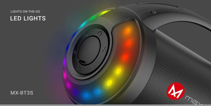 Maxwest MX-BT3S Bluetooth Speaker (RGB Lights)