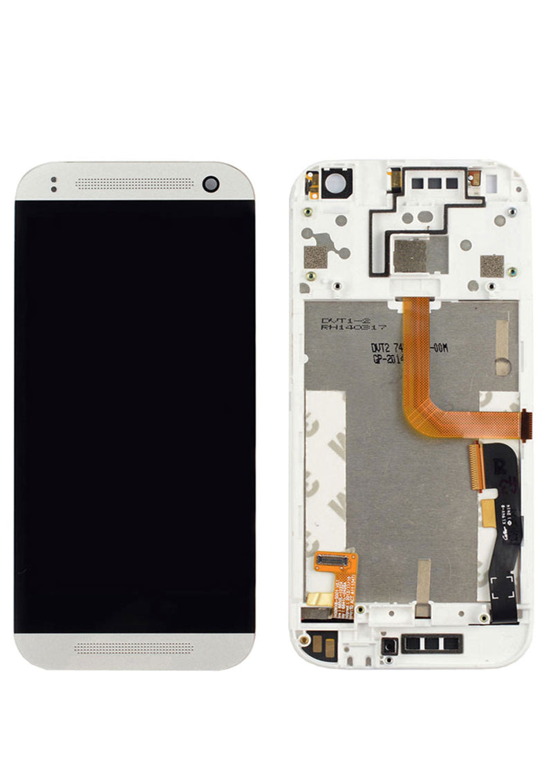 HTC One M8 mini LCD Assembly w/Frame - White