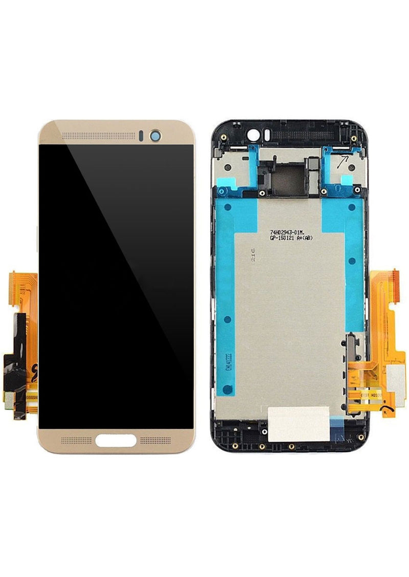 HTC One M9 Plus LCD Assembly w/Frame - Gold